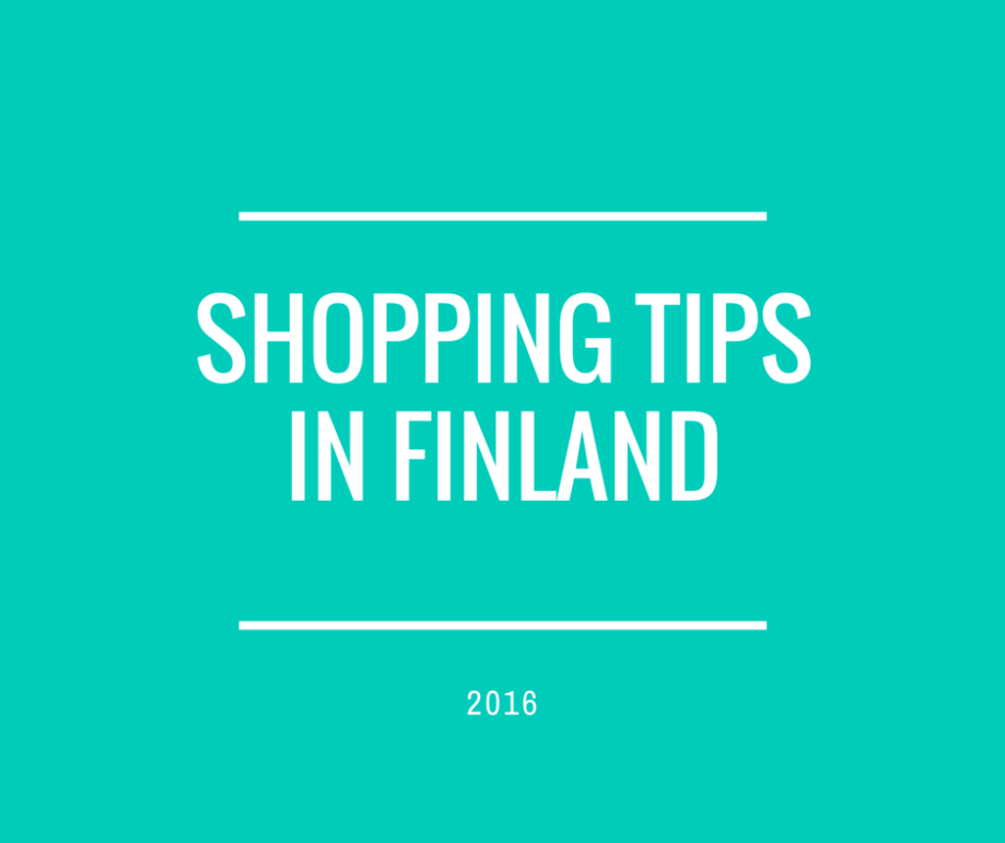 SHOPPING TIPS IN FINLAND
